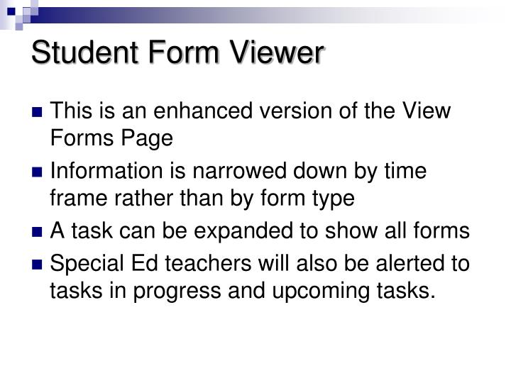 Student Form Viewer