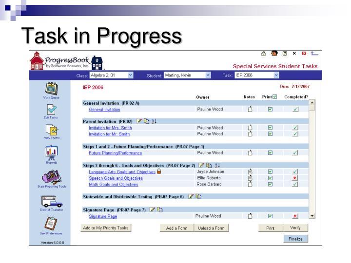 Task in Progress