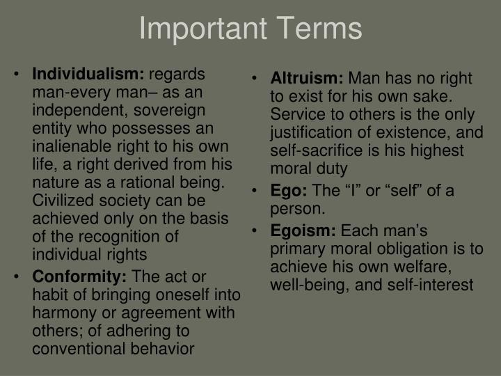 Individualism: