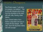1920 s designers