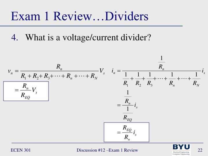 Exam 1 Review…Dividers