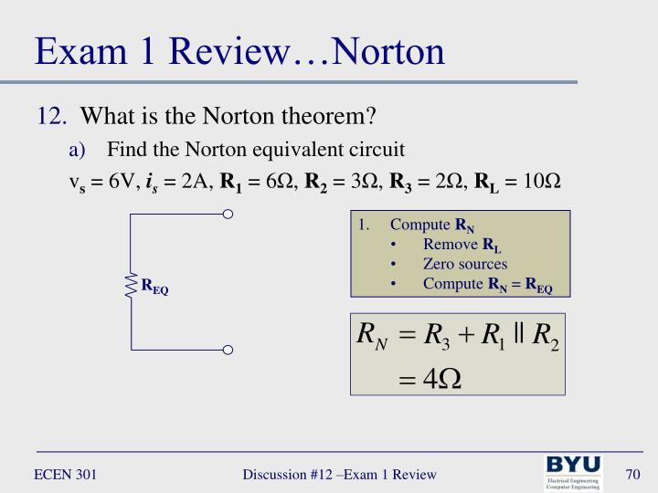 Exam 1 Review…Norton