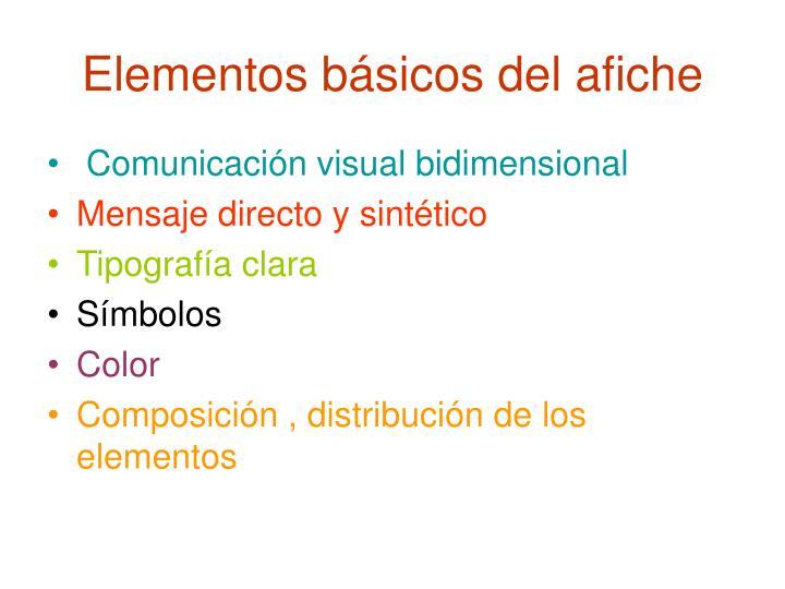 Elementos básicos del afiche