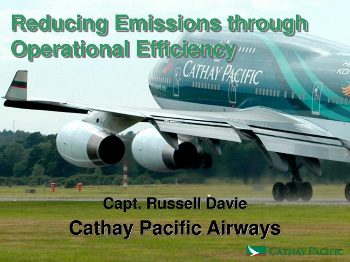 Reducing Emissions through Operational Efficiency