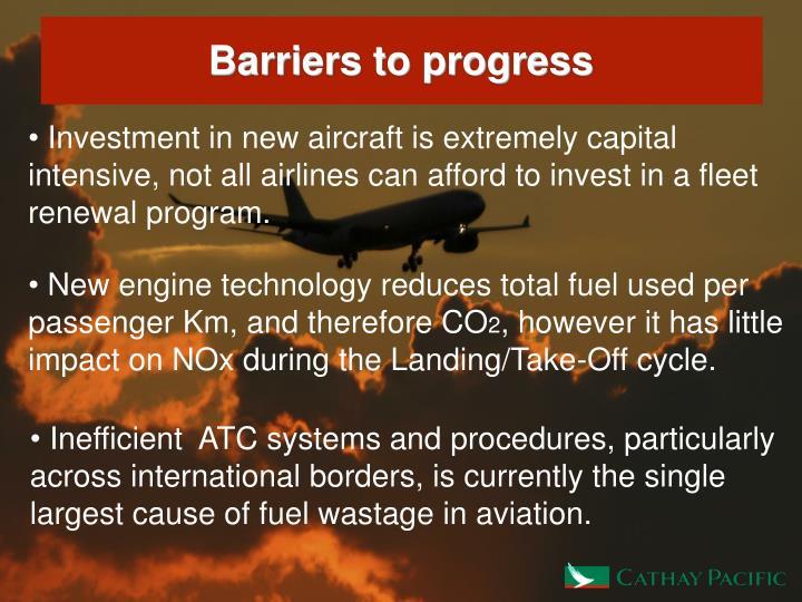 Barriers to progress