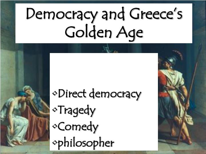 democracy and greeks Peter burian, professor of classical studies and theater studies at duke, answers questions about the role of greek theater in the development of athenian democracy.