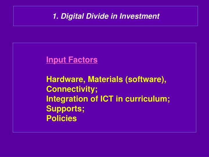 1. Digital Divide