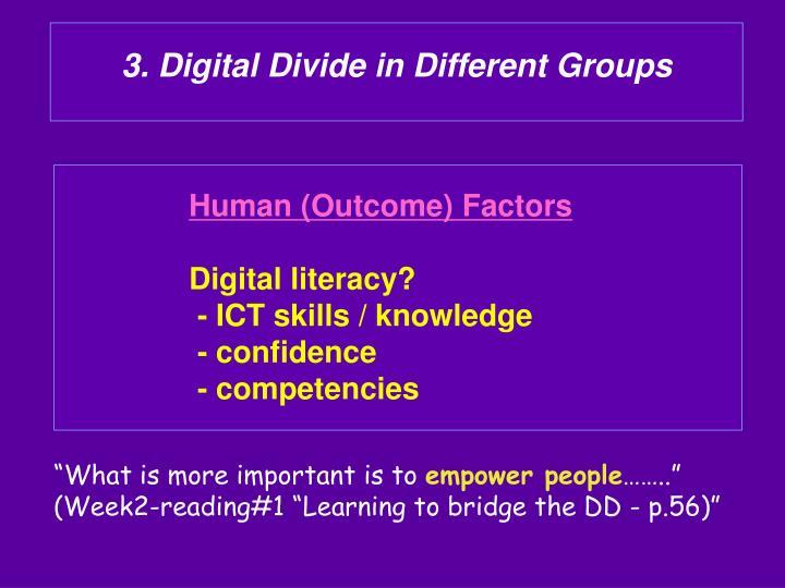 3. Digital Divide