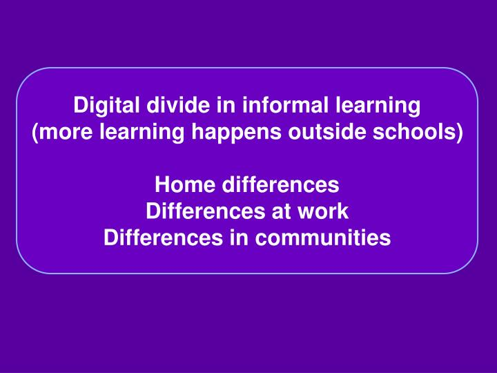 Digital divide in informal learning