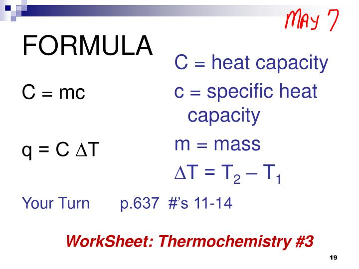 C = mc