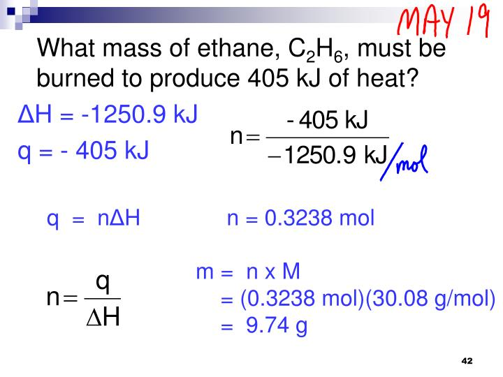 What mass of ethane, C
