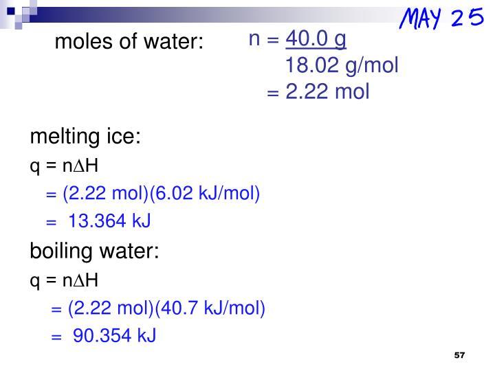 melting ice: