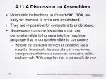 4 11 a discussion on assemblers