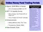 online money fund trading portals