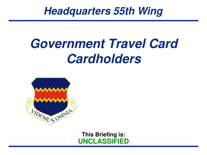 government travel card cardholders n.