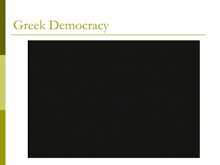 Greek Democracy