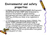 environmental and safety properties1