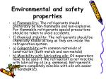 environmental and safety properties3