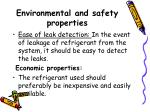 environmental and safety properties4