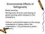 environmental effects of refrigerants
