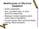 modifications of electrical equipment1