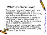 what is ozone layer