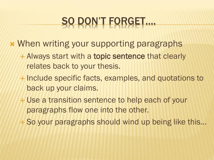 PPT - Writing introductory paragraphs PowerPoint Presentation - ID
