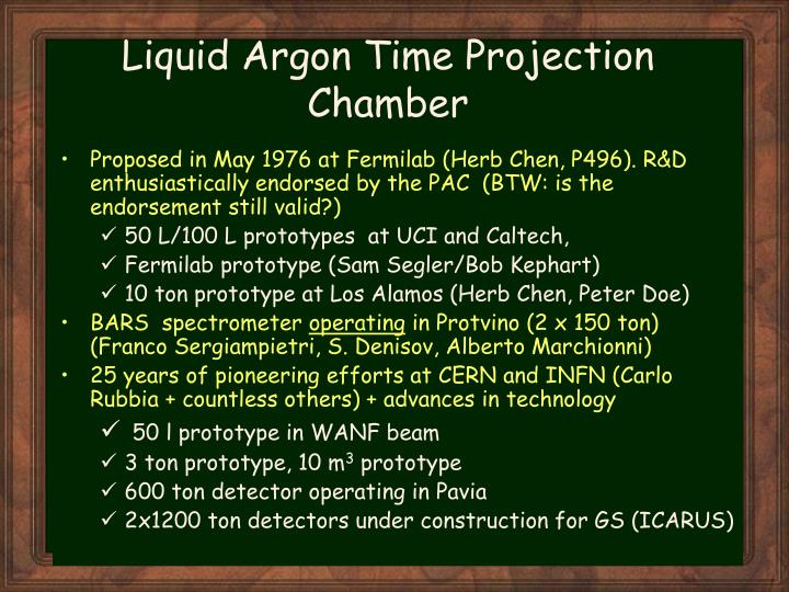 Liquid argon time projection chamber