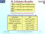 b s lifetime results