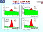 signal selection