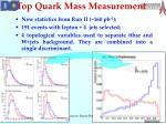 top quark mass measurement