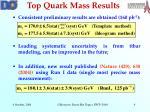 top quark mass results