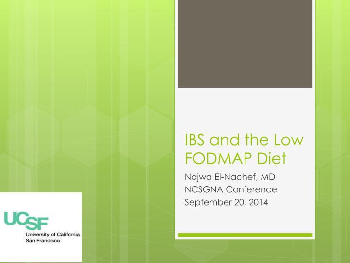 ibs and the low fodmap diet n.
