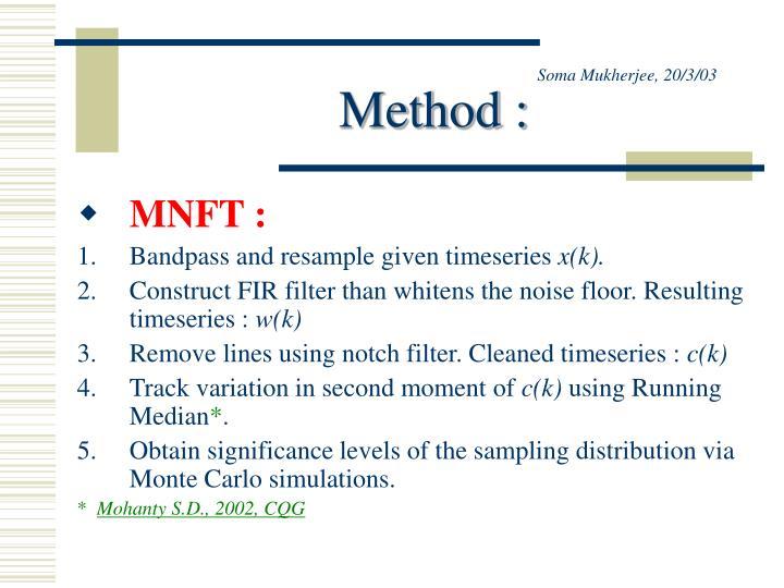 Soma mukherjee 20 3 03 method