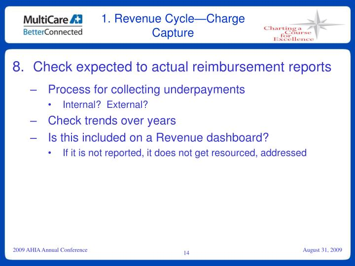 1. Revenue Cycle—Charge Capture