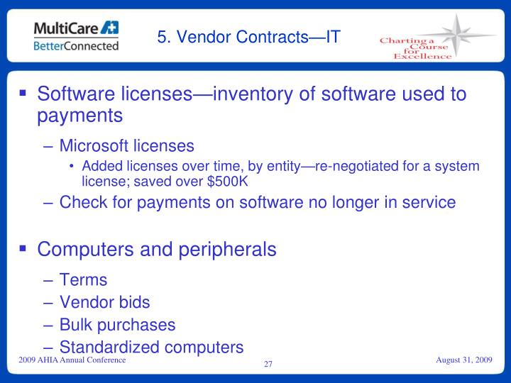 5. Vendor Contracts—IT