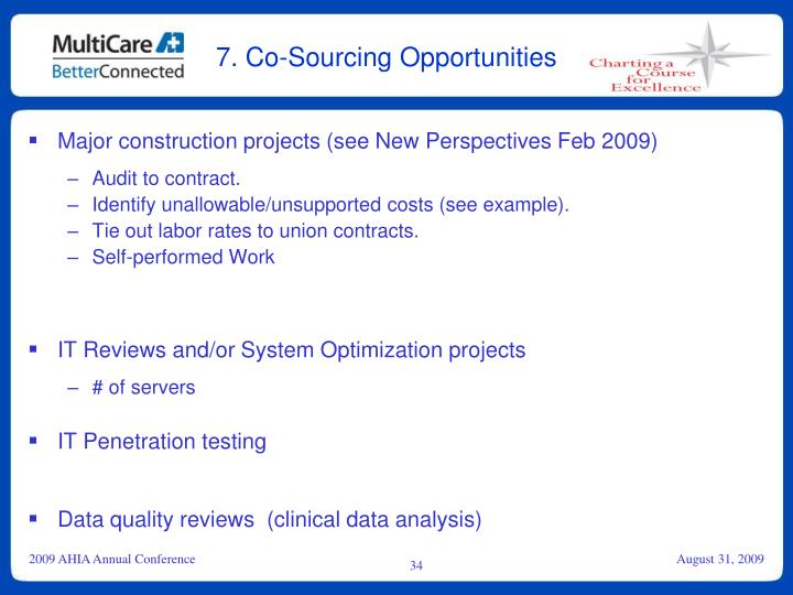7. Co-Sourcing Opportunities