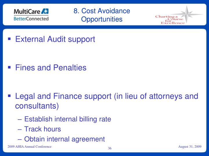 8. Cost Avoidance Opportunities