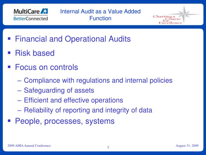 Internal Audit as a Value Added Function