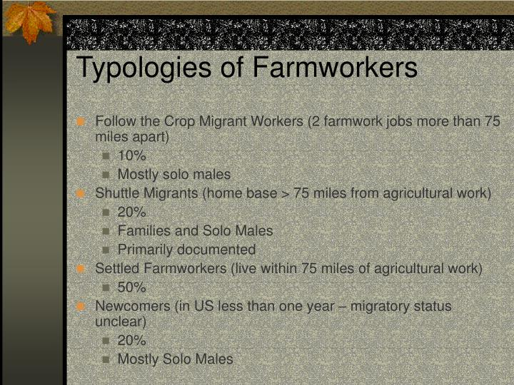 Typologies of Farmworkers