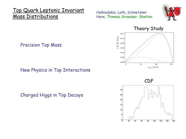 Top Quark Leptonic Invariant Mass Distributions