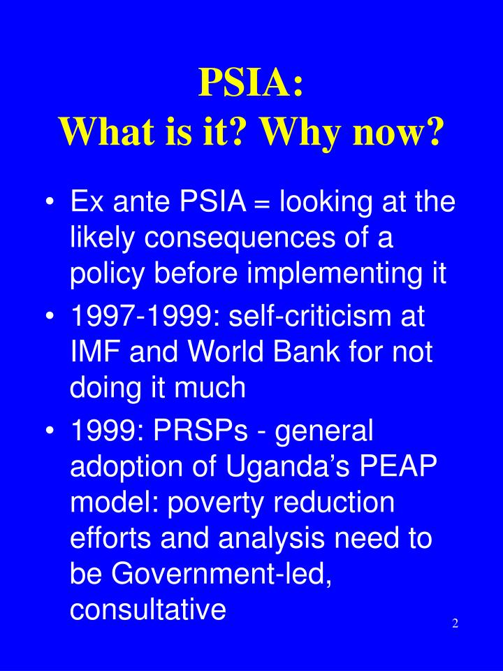 Psia what is it why now