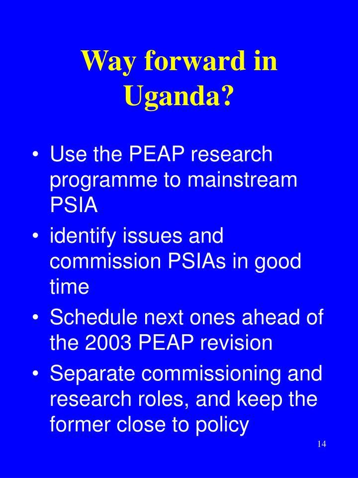 Way forward in Uganda?