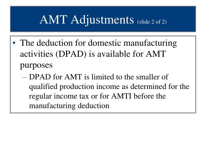 AMT Adjustments