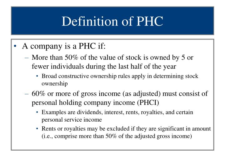 Definition of PHC