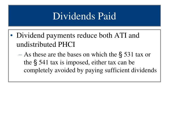 Dividends Paid