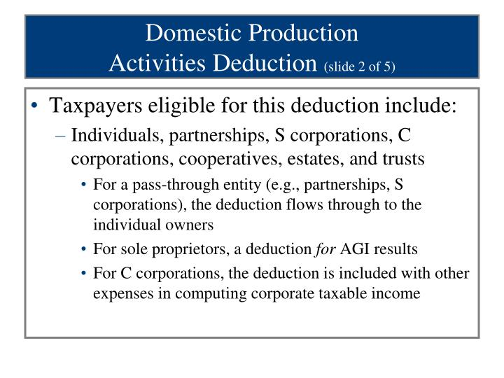Domestic Production
