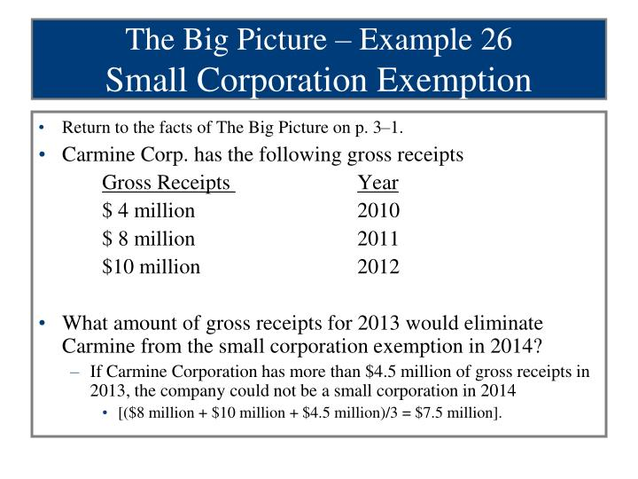 The Big Picture – Example 26