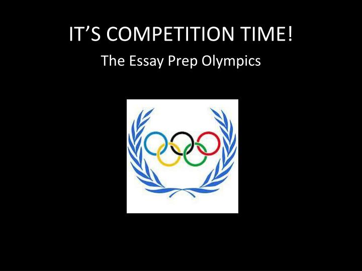 It s competition time