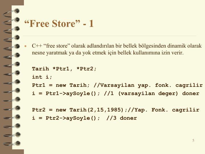 """Free Store"" - 1"